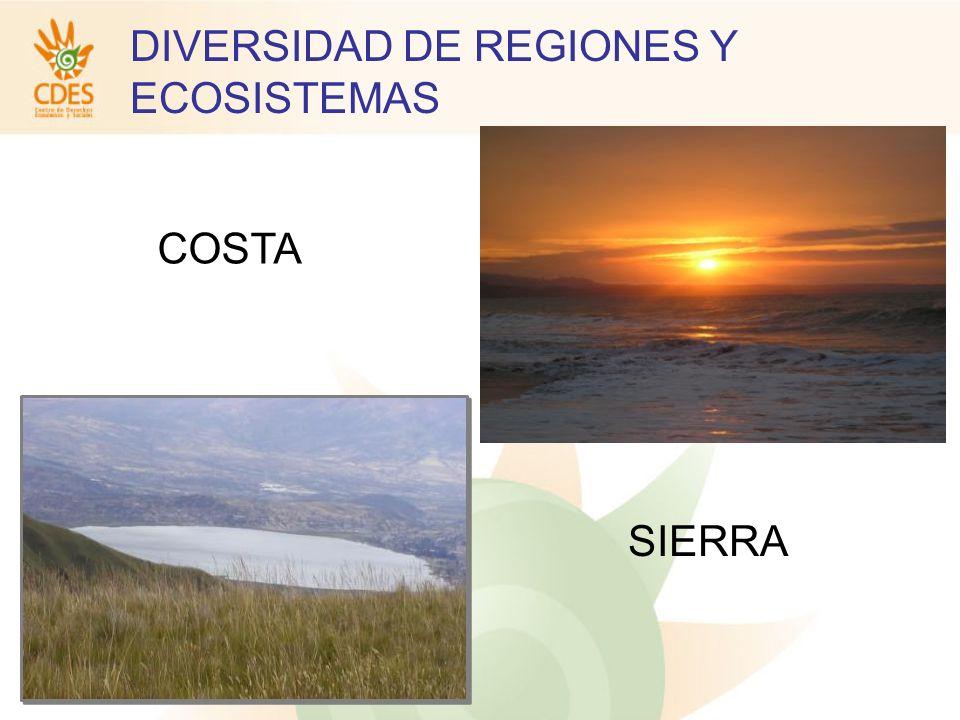 COSTA SIERRA DIVERSIDAD DE REGIONES Y ECOSISTEMAS