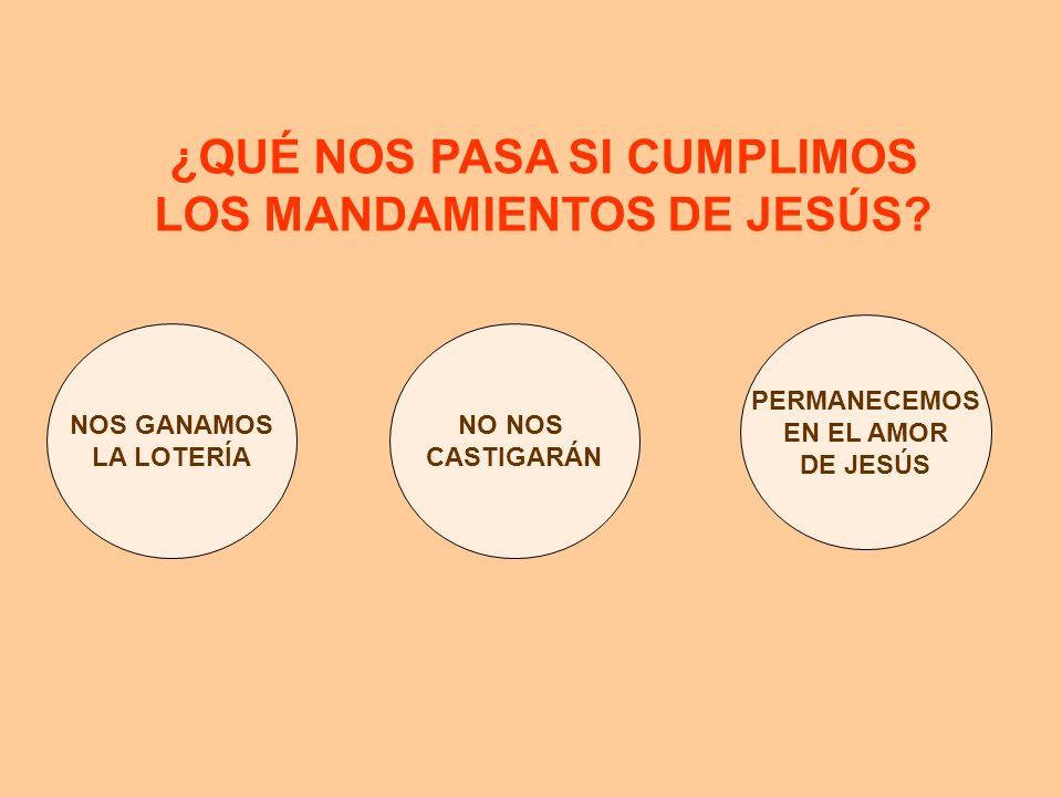 ¿QUÉ NOS PASA SI CUMPLIMOS LOS MANDAMIENTOS DE JESÚS? NOS GANAMOS LA LOTERÍA NO NOS CASTIGARÁN PERMANECEMOS EN EL AMOR DE JESÚS