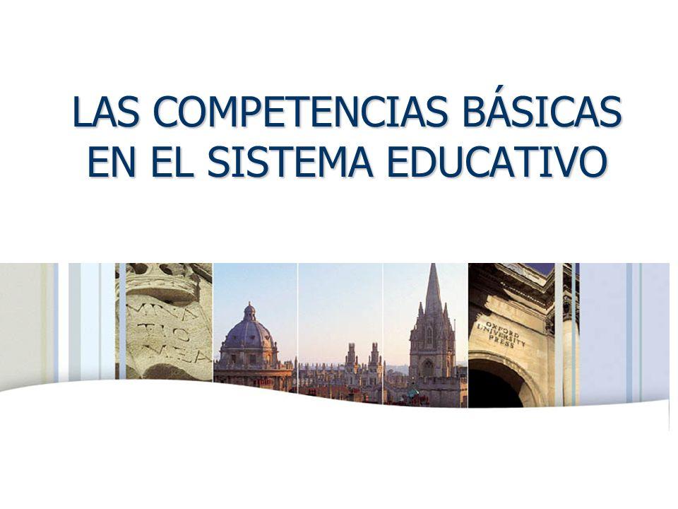 OXFORD UNIVERSITY PRESS LAS COMPETENCIAS BÁSICAS EN EL SISTEMA EDUCATIVO