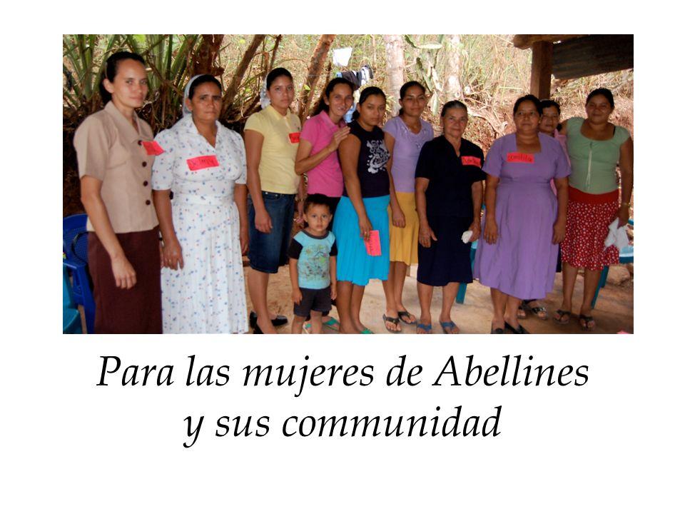 Para las mujeres de Abellines y sus communidad