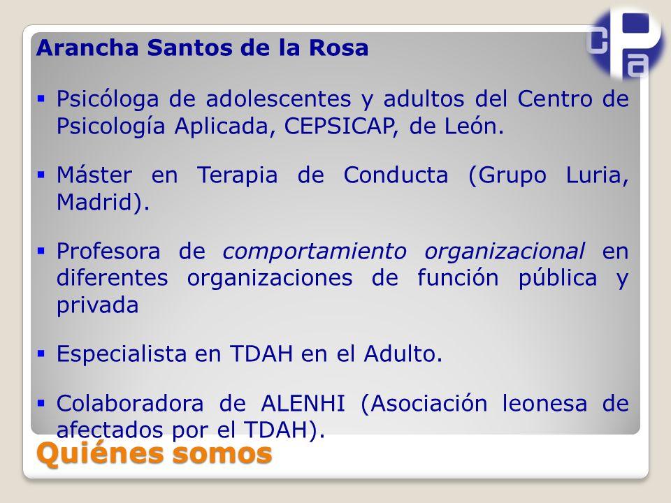 Arancha Santos de la Rosa Psicóloga de adolescentes y adultos del Centro de Psicología Aplicada, CEPSICAP, de León.