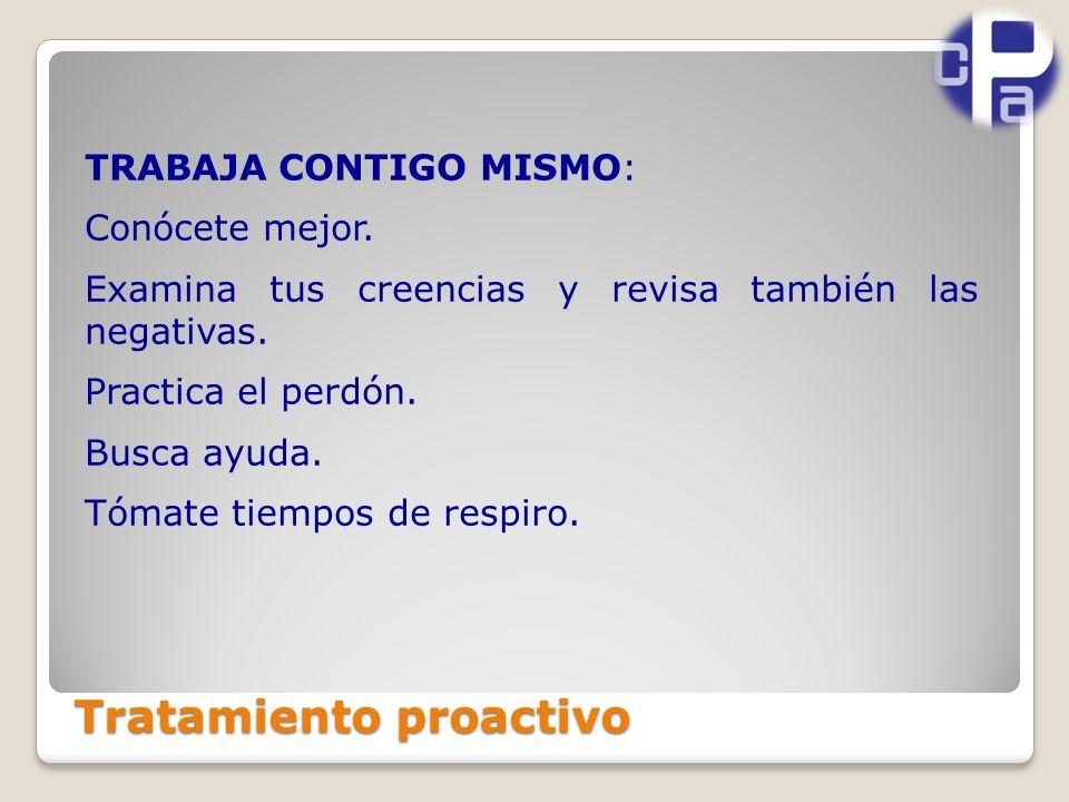 Tratamiento proactivo TRABAJA CONTIGO MISMO: Conócete mejor.