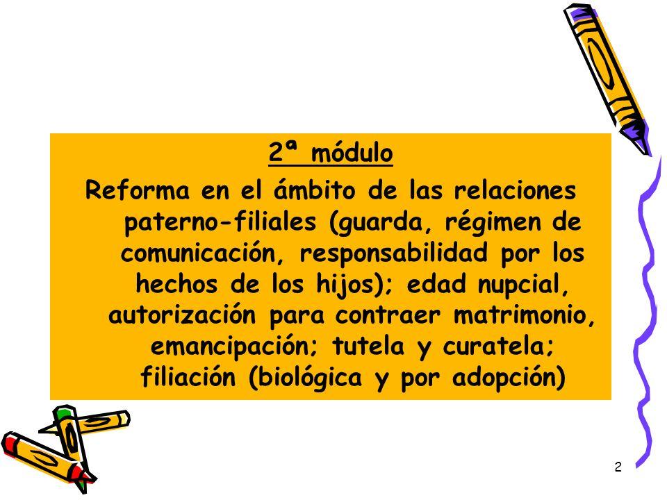 2 2ª módulo Reforma en el ámbito de las relaciones paterno-filiales (guarda, régimen de comunicación, responsabilidad por los hechos de los hijos); ed