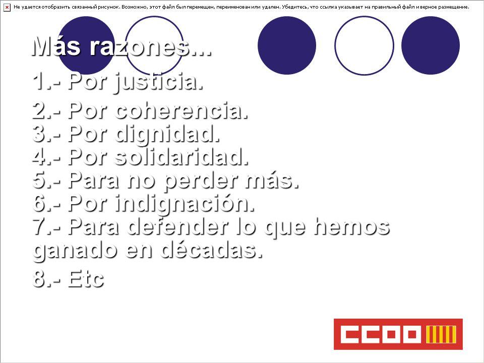 SECRETARIA DE FORMACIÓ Más razones... 1.- Por justicia.