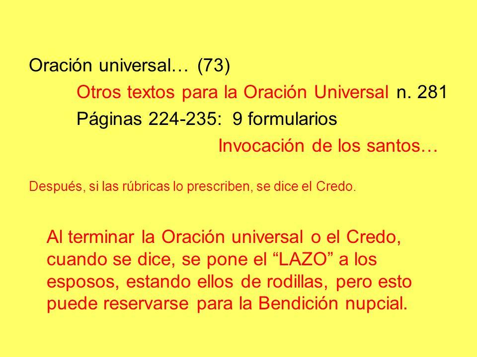 Oración universal… (73) Otros textos para la Oración Universal n.