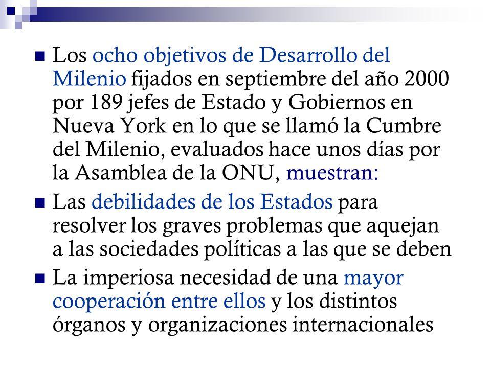 La necesidad de contar con los medios para atender y reparar los daños que causan las catástrofes naturales o las fallas tecnológicas, como el Tsunami de Indonesia (2004), el huracán Katrina en las costas de Louisiana (2005), los terremotos de Haití y Chile, el derrame de petróleo en el golfo de México, el derrumbe de las montañas de Oaxaca en México y la situación de los 33 mineros atrapados en la mina de Copiapó en Chile (2010), obligan a los Estados a estar prevenidos, a ser eficaces y a contar con una pronta cooperación internacional.