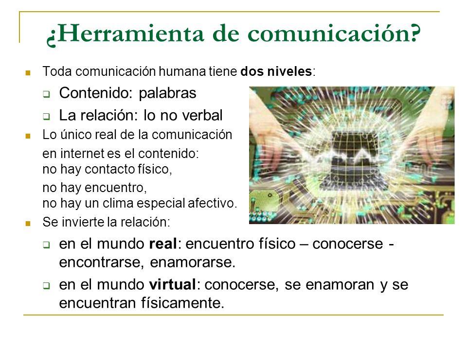 ¿Herramienta de comunicación? Toda comunicación humana tiene dos niveles: Contenido: palabras La relación: lo no verbal Lo único real de la comunicaci