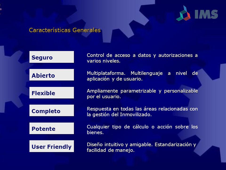 Seguro Control de acceso a datos y autorizaciones a varios niveles. Abierto Multiplataforma. Multilenguaje a nivel de aplicación y de usuario. Flexibl