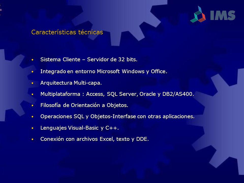 Sistema Cliente – Servidor de 32 bits. Sistema Cliente – Servidor de 32 bits. Integrado en entorno Microsoft Windows y Office. Integrado en entorno Mi