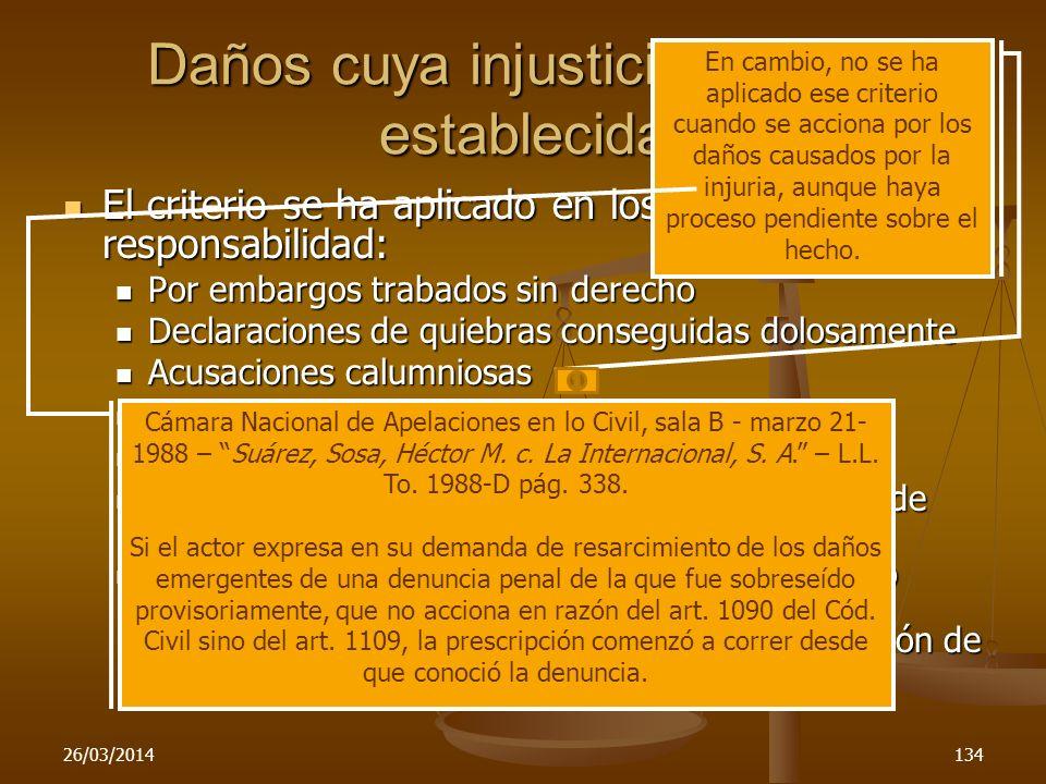 26/03/2014134 Daños cuya injusticia no está establecida El criterio se ha aplicado en los casos responsabilidad: El criterio se ha aplicado en los cas