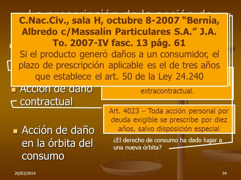 Art. 4023 – Toda acción personal por deuda exigible se prescribe por diez años, salvo disposición especial Art. 4037 – Prescríbese por dos años, la ac