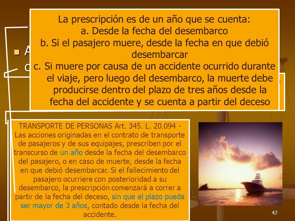 26/03/201447 La prescripción de la acción contractual de daños Acción de daño contractual Acción de daño contractual Art. 4023 – Toda acción personal
