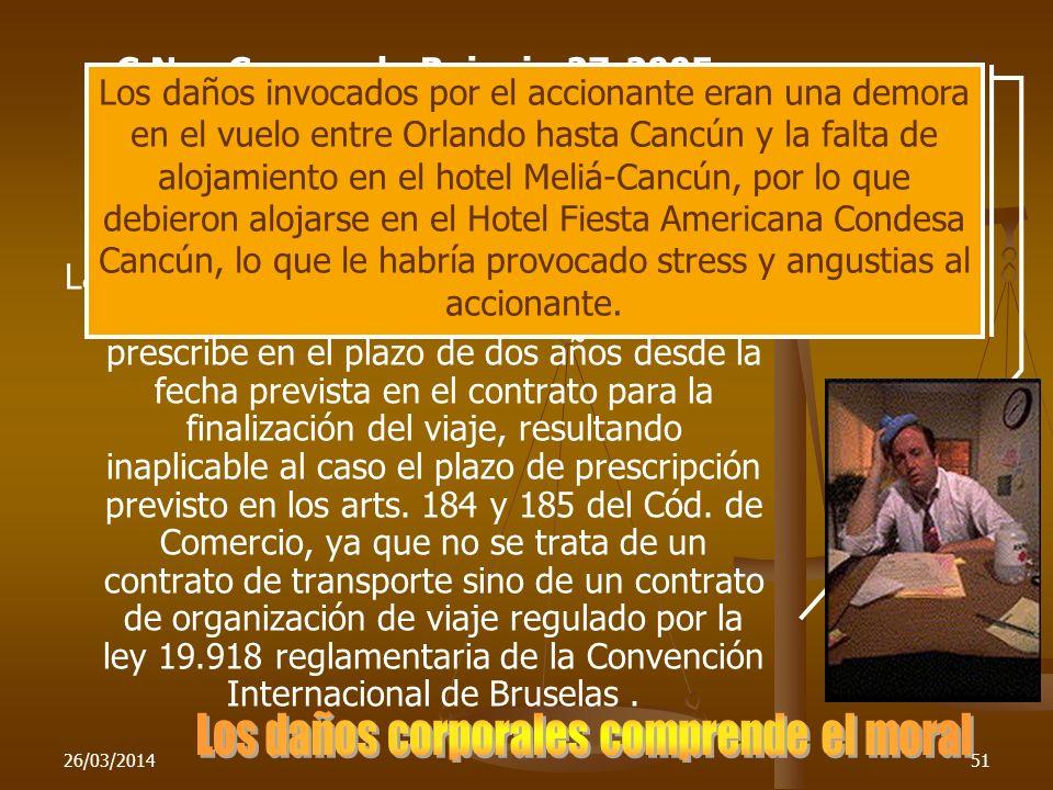 C.Nac.Com., sala B, junio 27-2005 Tonello, Alicia C. y otro c. Furlong Empresa de Viajes y Turismo S.A. y otro RCyS To. 2005 pág. 1195 La acción de da