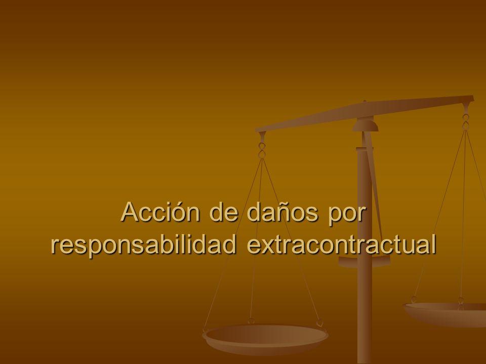Acción de daños por responsabilidad extracontractual