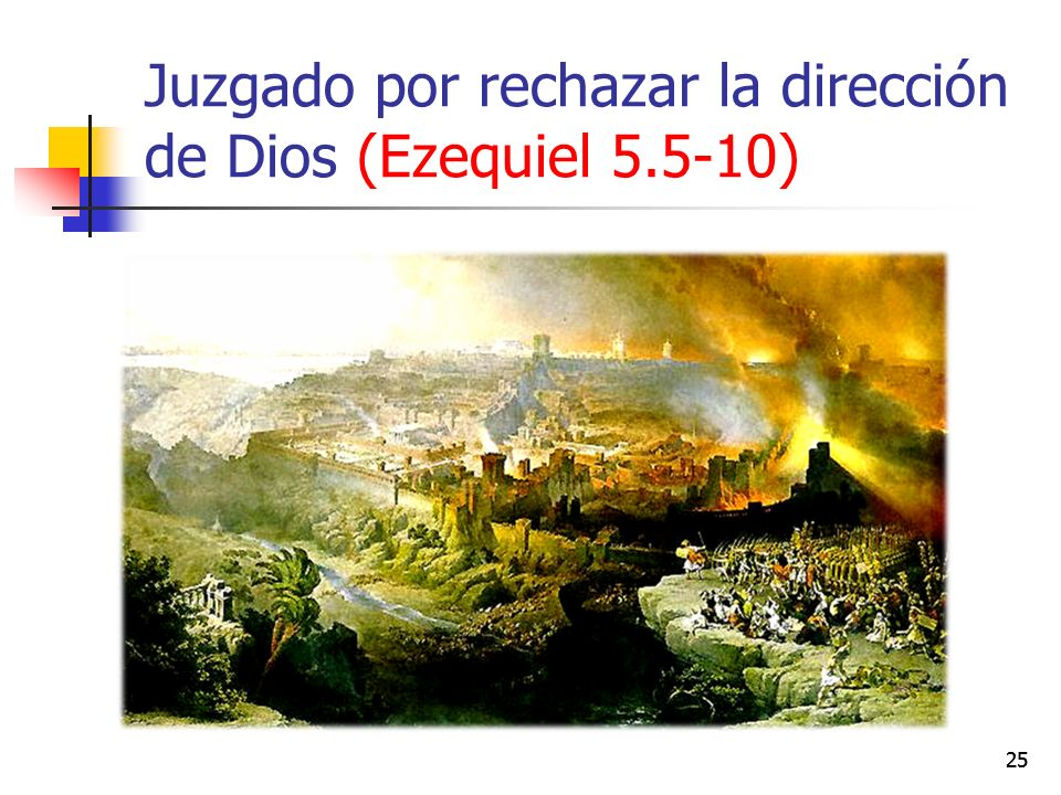 Juzgado por rechazar la dirección de Dios (Ezequiel 5.5-10) 25