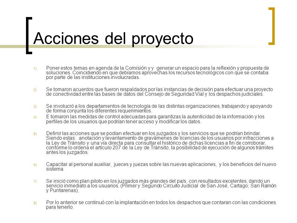 Acciones del proyecto 1) Poner estos temas en agenda de la Comisión y y generar un espacio para la reflexión y propuesta de soluciones.