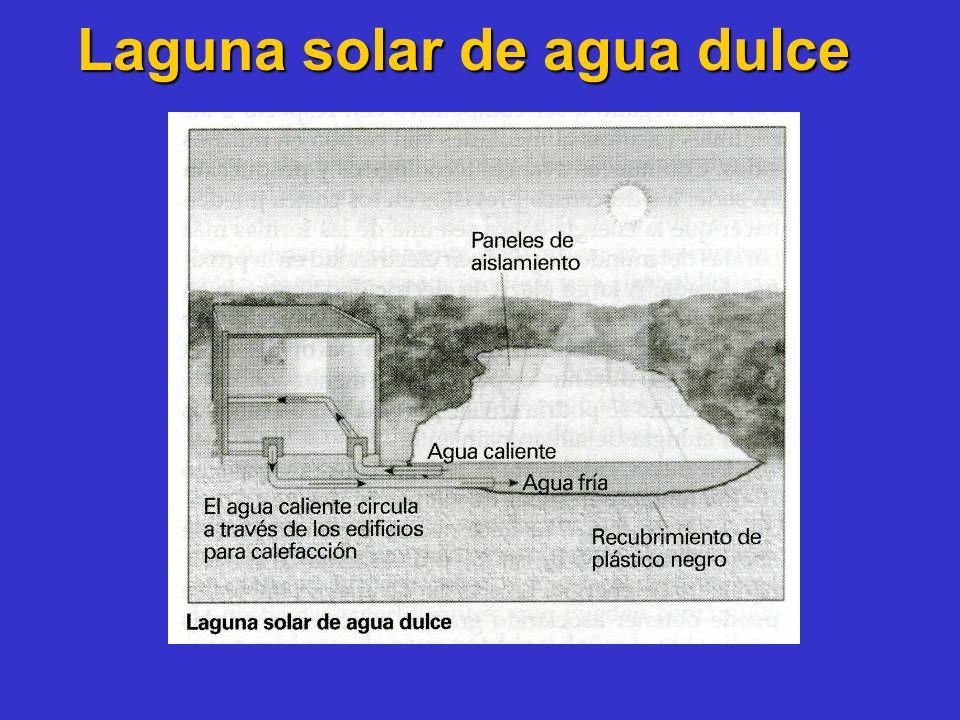 Laguna solar de agua dulce