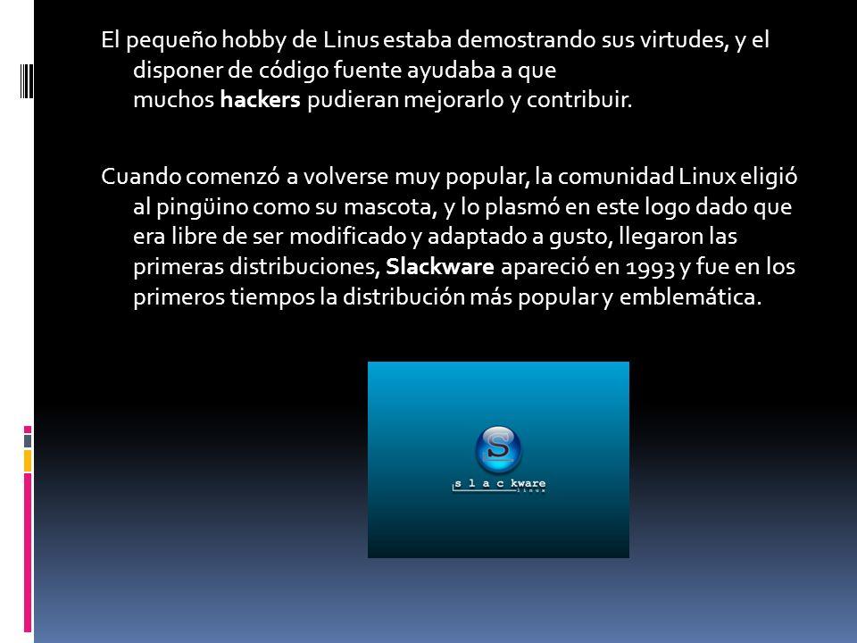 El pequeño hobby de Linus estaba demostrando sus virtudes, y el disponer de código fuente ayudaba a que muchos hackers pudieran mejorarlo y contribuir.