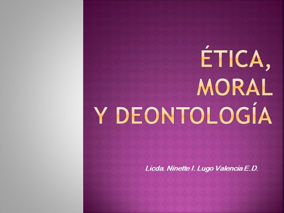 La moral profesional implica hablar de los deberes profesionales.