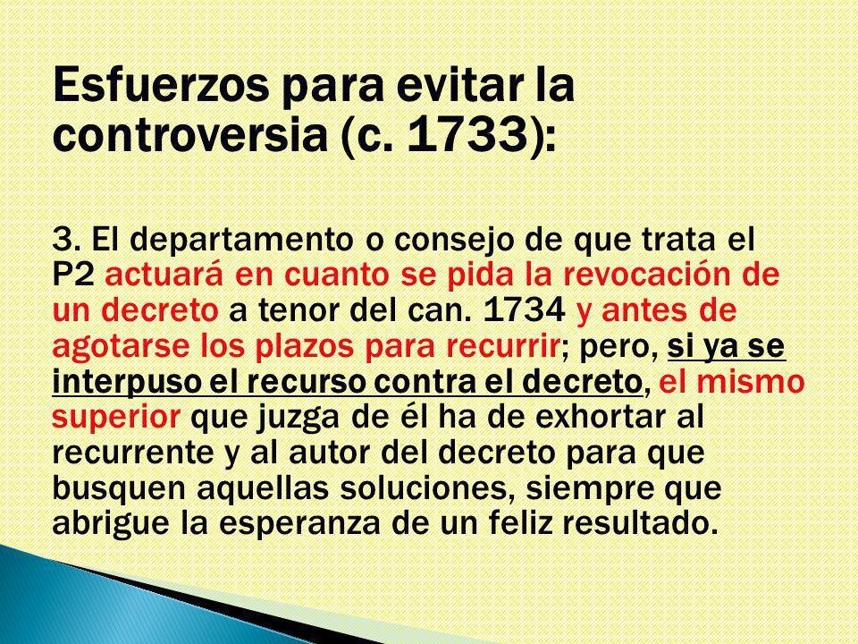 Esfuerzos para evitar la controversia (c. 1733): 3.
