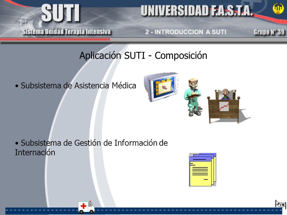 Aplicación SUTI - Composición Subsistema de Asistencia Médica Subsistema de Gestión de Información de Internación 2 - INTRODUCCION A SUTI