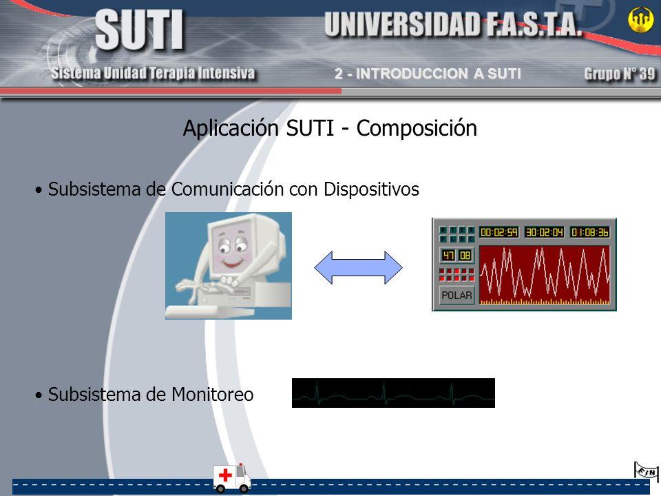 Aplicación SUTI - Composición Subsistema de Comunicación con Dispositivos Subsistema de Monitoreo 2 - INTRODUCCION A SUTI