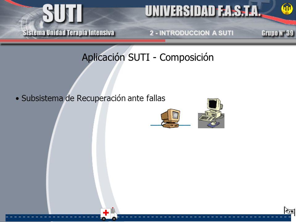 Aplicación SUTI - Composición Subsistema de Recuperación ante fallas 2 - INTRODUCCION A SUTI