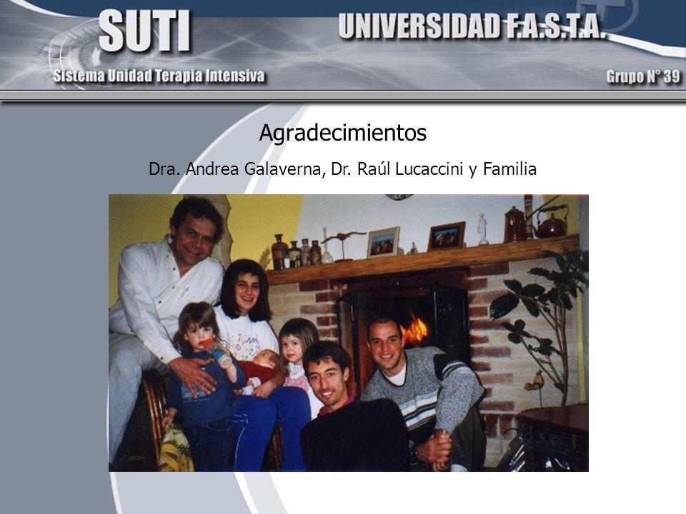 Agradecimientos Dra. Andrea Galaverna, Dr. Raúl Lucaccini y Familia