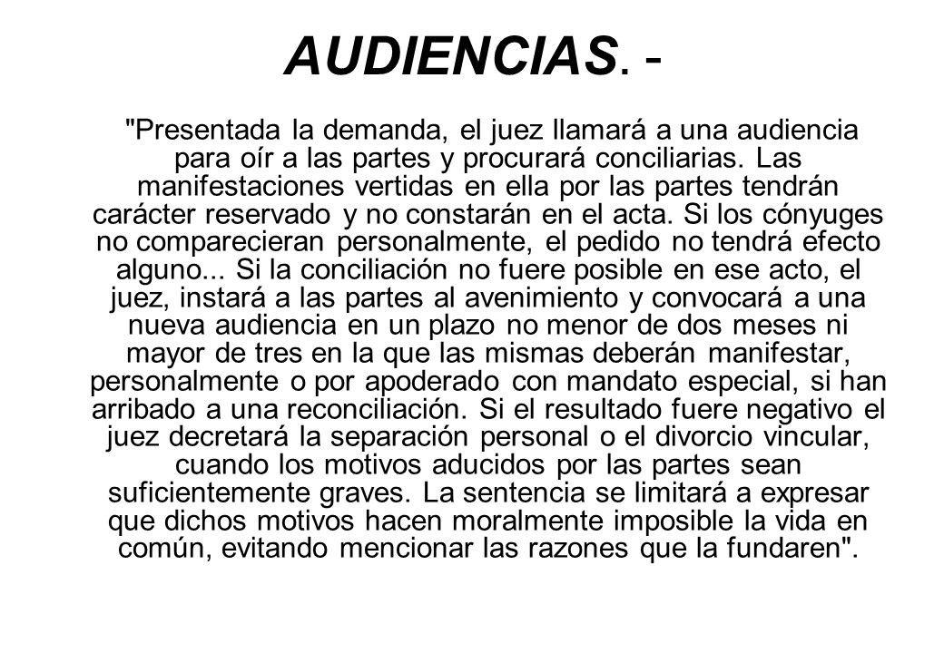 AUDIENCIAS. -