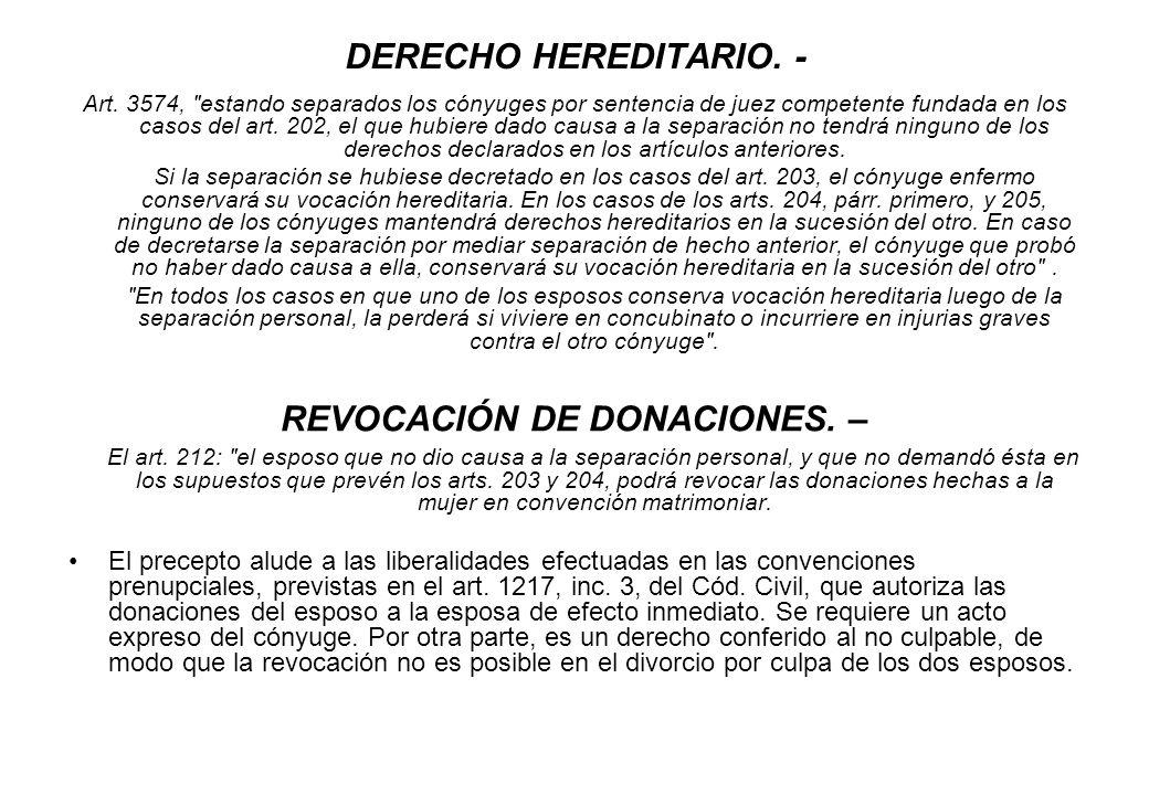 DERECHO HEREDITARIO. - Art. 3574,