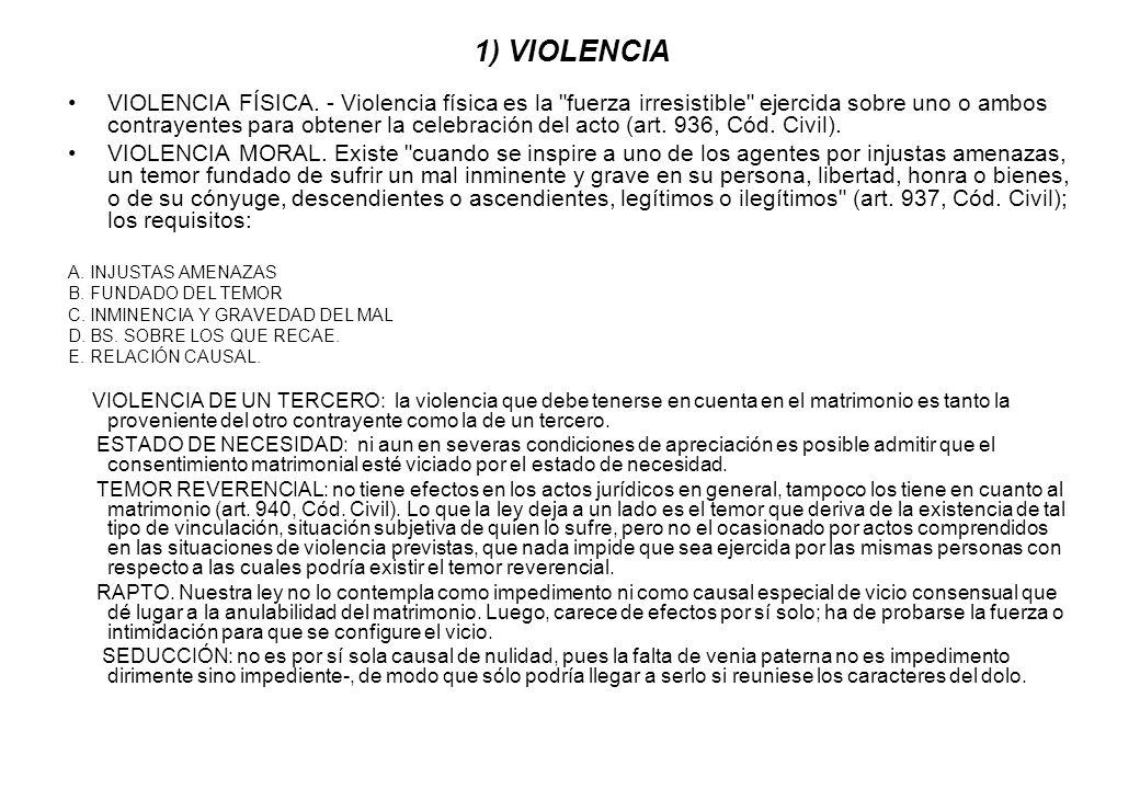 1) VIOLENCIA VIOLENCIA FÍSICA. - Violencia física es la