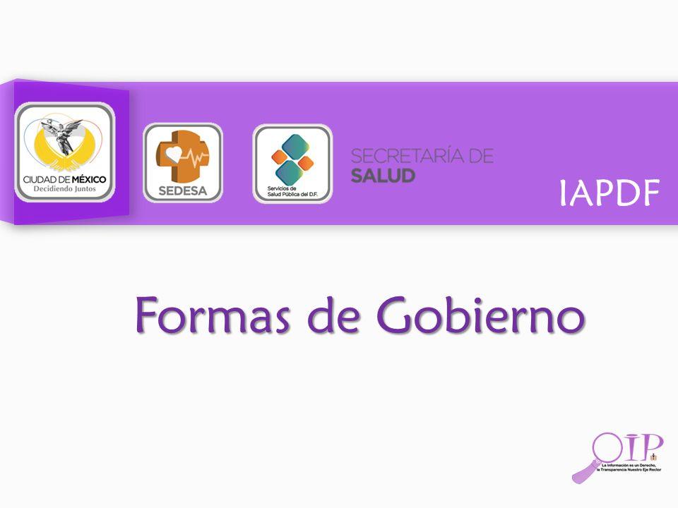 IAPDF Formas de Gobierno