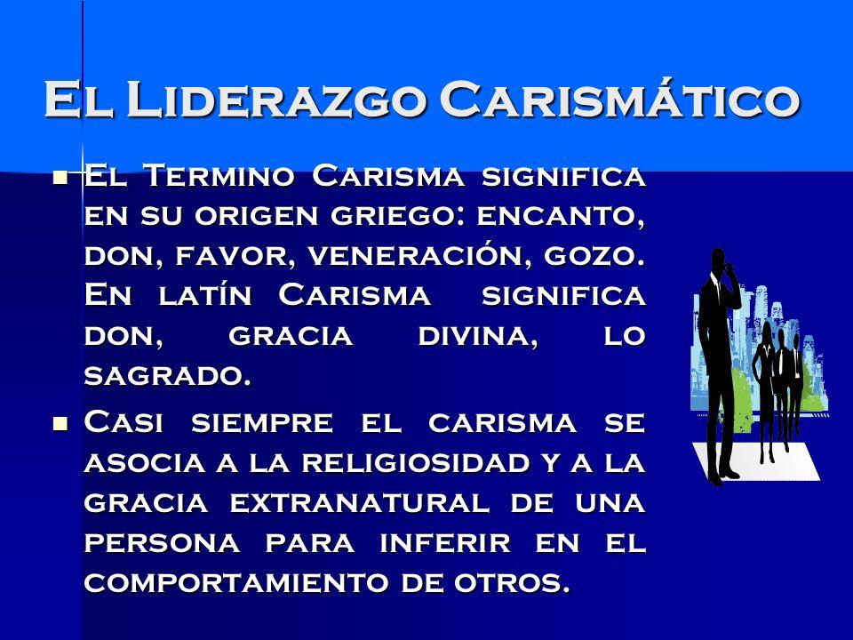 Liderazgo carismático Pero, ya en 1989, P.