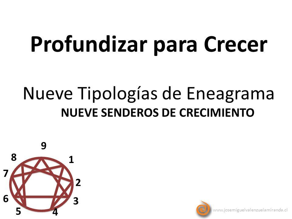 www.josemiguelvalenzuelamiranda.cl Profundizar para Crecer 9 1 2 3 4 5 6 7 8 Nueve Tipologías de Eneagrama NUEVE SENDEROS DE CRECIMIENTO