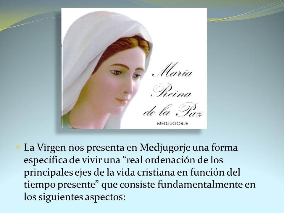 La Virgen nos presenta en Medjugorje una forma específica de vivir una real ordenación de los principales ejes de la vida cristiana en función del tie