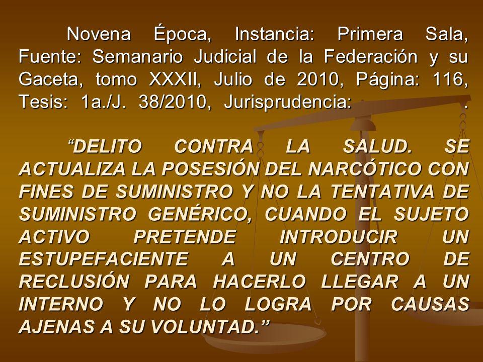 Novena Época, Instancia: Primera Sala, Fuente: Semanario Judicial de la Federación y su Gaceta, tomo XXXII, Julio de 2010, Página: 116, Tesis: 1a./J.
