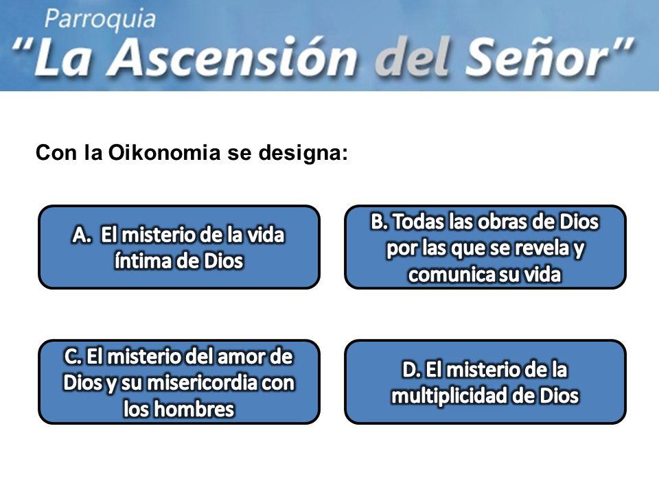 Con la Oikonomia se designa: