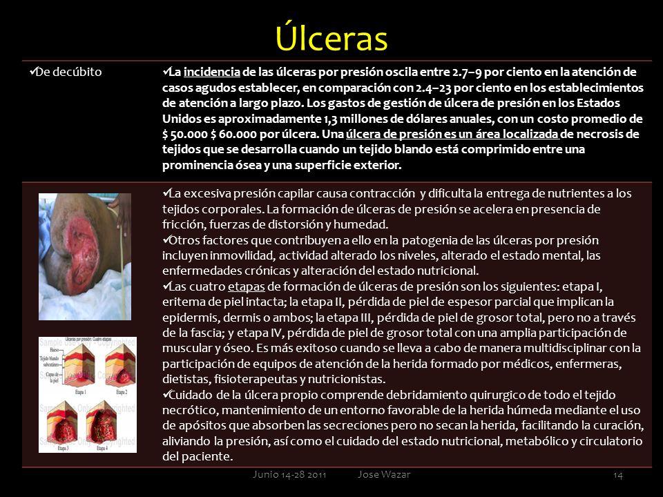 Úlceras De decúbito La incidencia de las úlceras por presión oscila entre 2.7–9 por ciento en la atención de casos agudos establecer, en comparación c