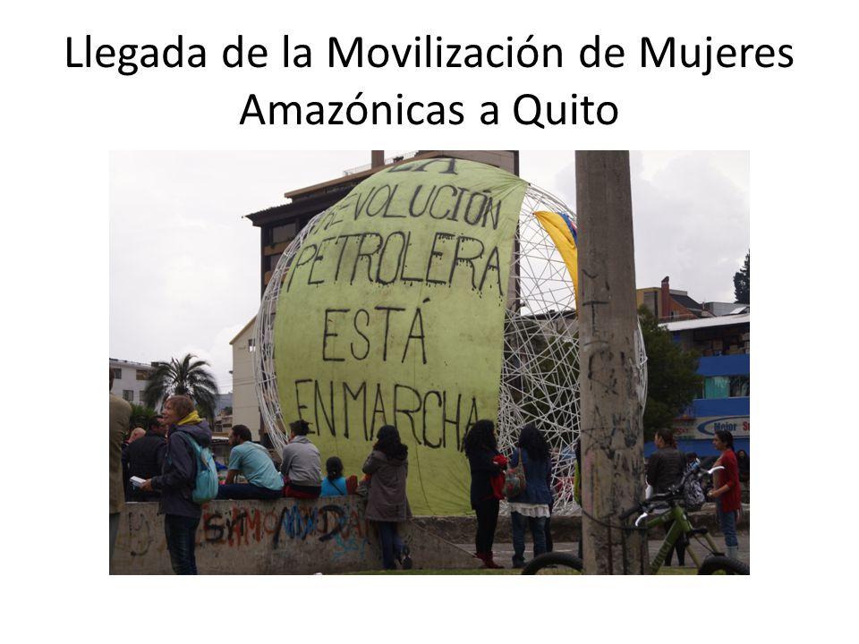 Llegada de la Movilización de Mujeres Amazónicas a Quito