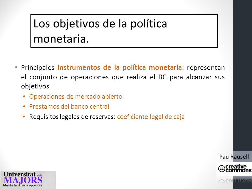 Los objetivos de la política monetaria. Objetivos de la política monetaria: Estabilidad de precios (mantener una inflación baja y estable) Fomentar el