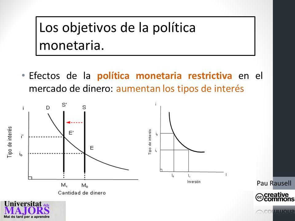 Los objetivos de la política monetaria. Principales instrumentos de la política monetaria: representan el conjunto de operaciones que realiza el BC pa