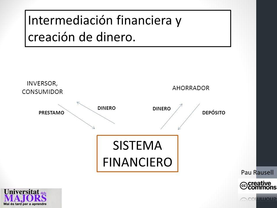 Intermediación financiera y creación de dinero. 1. La actividad económica real y la actividad financiera La actividad económica real se define como aq