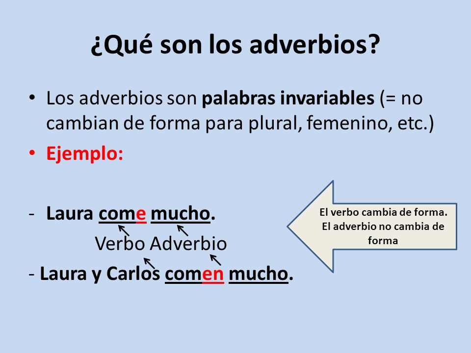 ¿Qué son los adverbios.