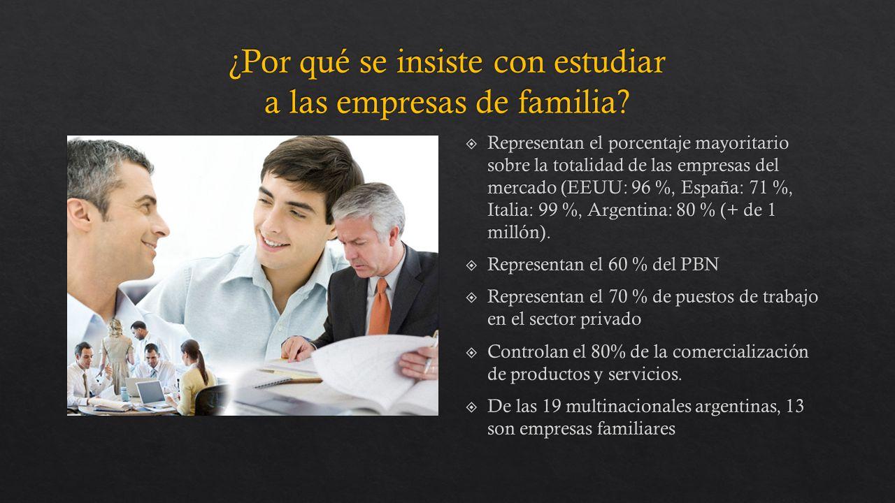 Representan el porcentaje mayoritario sobre la totalidad de las empresas del mercado (EEUU: 96 %, España: 71 %, Italia: 99 %, Argentina: 80 % (+ de 1 millón).