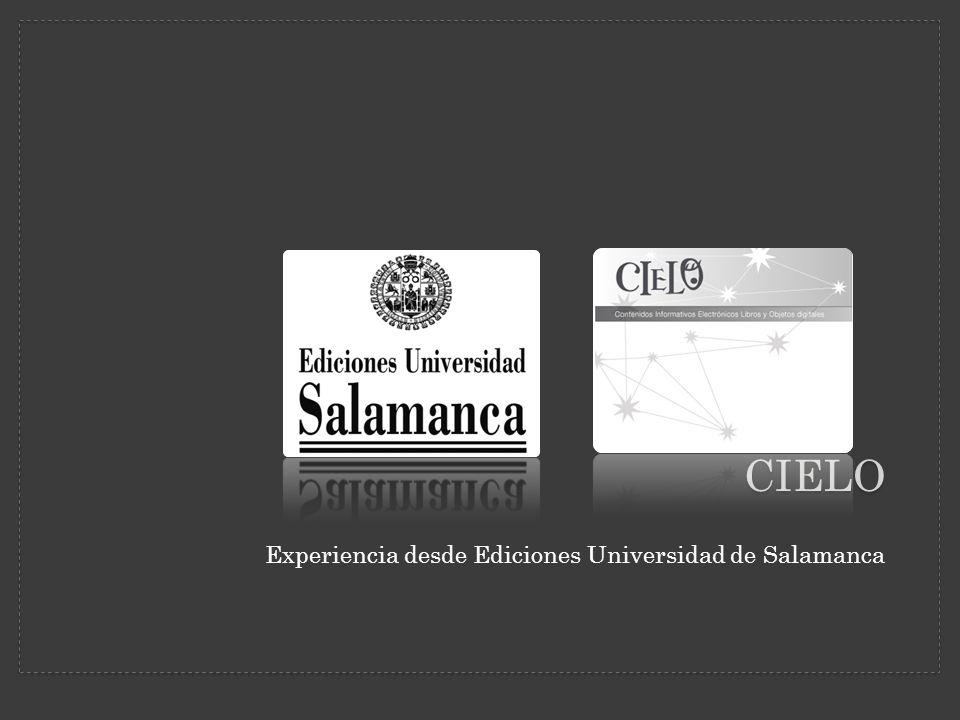CIELO Experiencia desde Ediciones Universidad de Salamanca