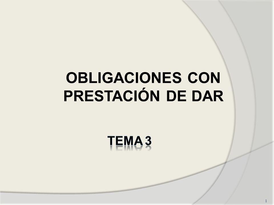 OBLIGACIONES CON PRESTACIÓN DE DAR 1