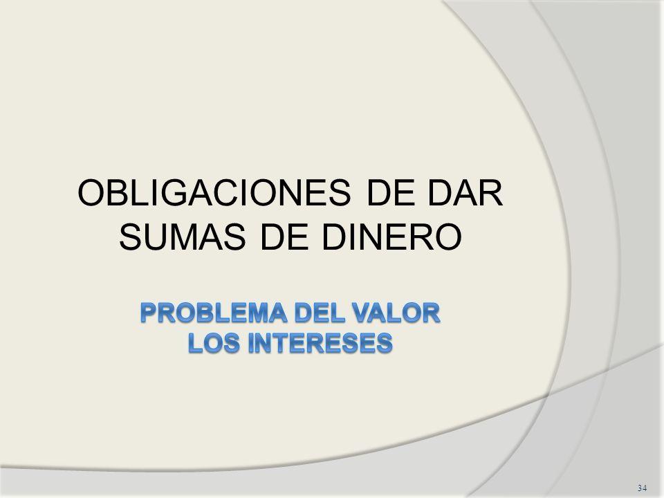 OBLIGACIONES DE DAR SUMAS DE DINERO 34