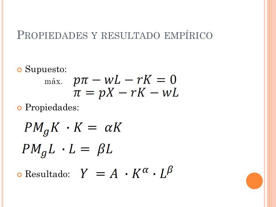 F UNCIÓN DE COSTES 1) Minimizamos: C(w,y) = min w 1 x 1 + w 2 x 2 sa: A x 1 x 2 = y 2) Minimizamos y encontramos que X 1 (w 1,w 2,y)= X 2 (w 1,w 2,y)=