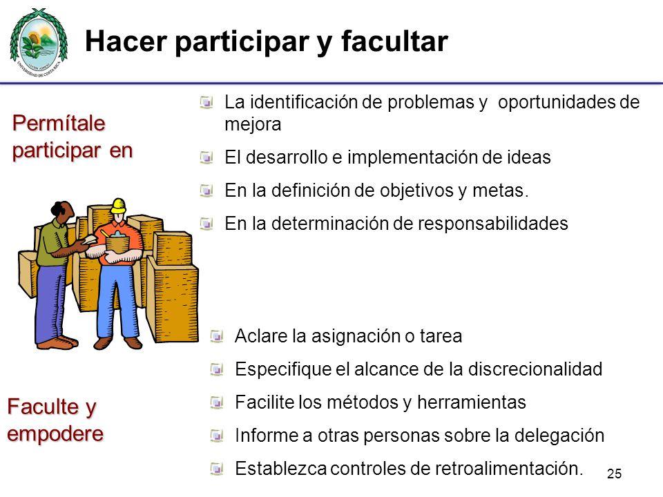 25 La identificación de problemas y oportunidades de mejora El desarrollo e implementación de ideas En la definición de objetivos y metas. En la deter