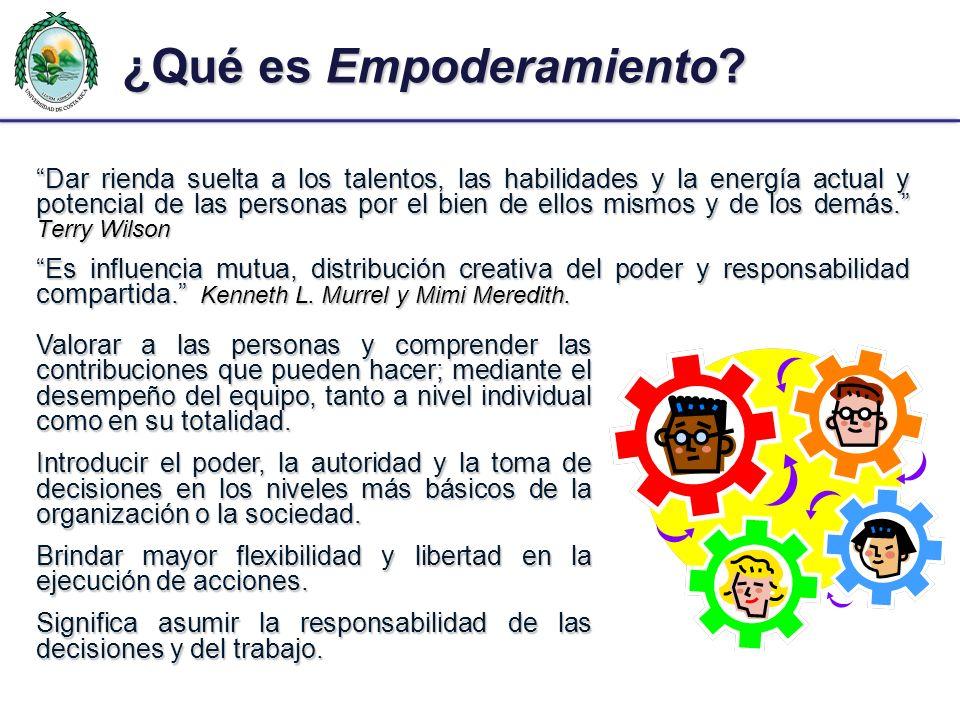 ¿Qué es Empoderamiento? Dar rienda suelta a los talentos, las habilidades y la energía actual y potencial de las personas por el bien de ellos mismos